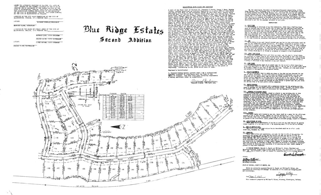 Layout of the Second Addition houses in Blue Ridge